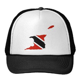 mapa de la bandera de país de Trinidad Trinidad y Gorros