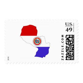 Mapa de la bandera de Paraguay Envio