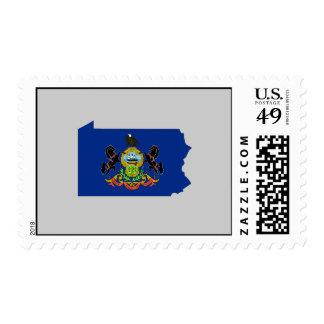 Mapa de la bandera de Pennsylvania Envio