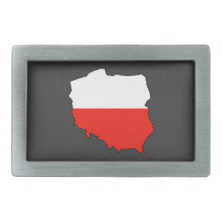Mapa de la bandera de Polonia Hebillas De Cinturon Rectangulares