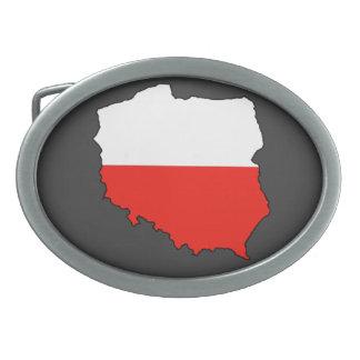 Mapa de la bandera de Polonia Hebillas Cinturón