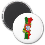 Mapa de la bandera de Portugal Imanes