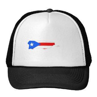 Mapa de la bandera de Puerto Rico del mismo tamaño Gorro De Camionero