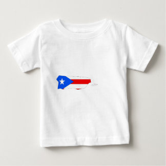 Mapa de la bandera de Puerto Rico del mismo tamaño T-shirt