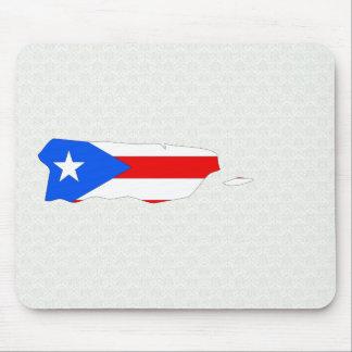 Mapa de la bandera de Puerto Rico del mismo tamaño Alfombrillas De Ratón