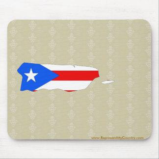 Mapa de la bandera de Puerto Rico del mismo tamaño Mousepads