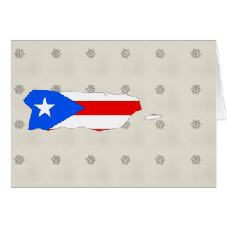 Mapa de la bandera de Puerto Rico del mismo tamaño Tarjeta De Felicitación