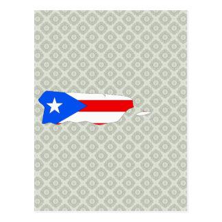 Mapa de la bandera de Puerto Rico del mismo tamaño Postales