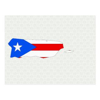 Mapa de la bandera de Puerto Rico del mismo tamaño Tarjetas Postales