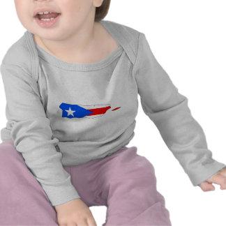 Mapa de la bandera de Puerto Rico Camiseta
