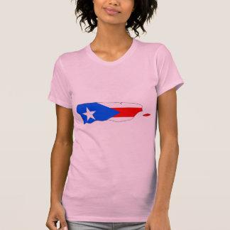 Mapa de la bandera de Puerto Rico Playera