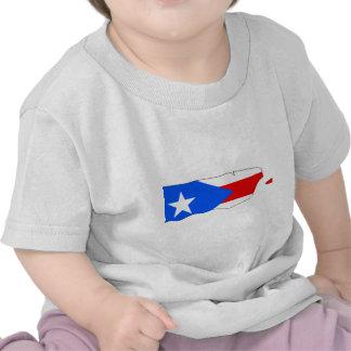 Mapa de la bandera de Puerto Rico Camisetas