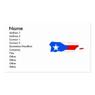 Mapa de la bandera de Puerto Rico Plantillas De Tarjeta De Negocio