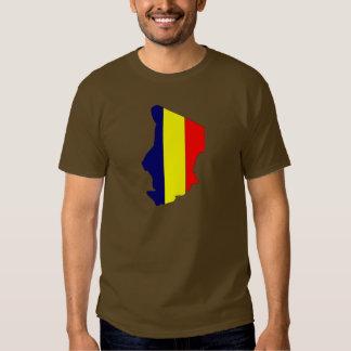 Mapa de la bandera de República eo Tchad Playera