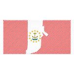 Mapa de la bandera de Rhode Island Tarjeta Personal