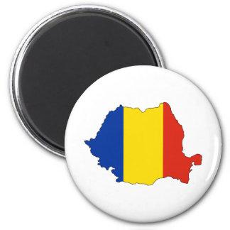 Mapa de la bandera de Rumania del mismo tamaño Imán Redondo 5 Cm