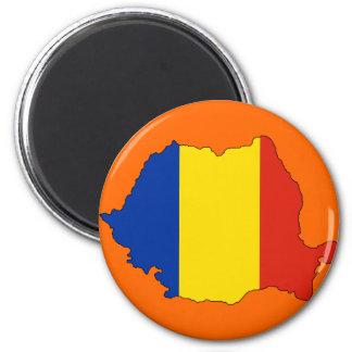 Mapa de la bandera de Rumania Iman