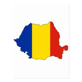 Mapa de la bandera de Rumania Tarjeta Postal