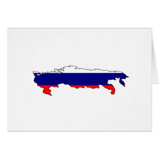Mapa de la bandera de Rusia Felicitacion