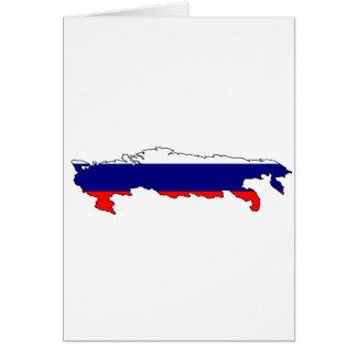Mapa de la bandera de Rusia Tarjeton