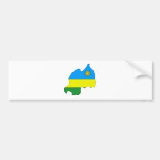 Mapa de la bandera de Rwanda del mismo tamaño Etiqueta De Parachoque