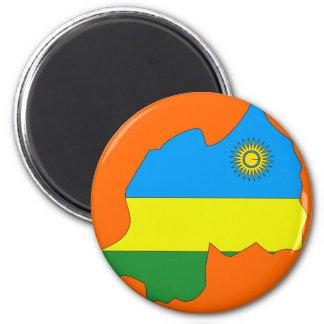 Mapa de la bandera de Rwanda Iman De Frigorífico