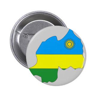 Mapa de la bandera de Rwanda Pin