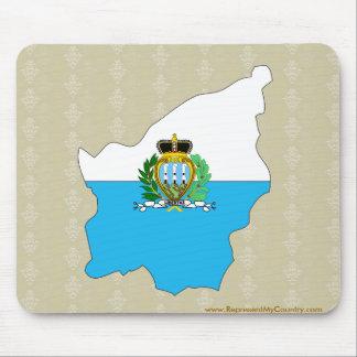 Mapa de la bandera de San Marino del mismo tamaño Tapetes De Raton