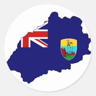 Mapa de la bandera de Santa Helena Pegatina Redonda