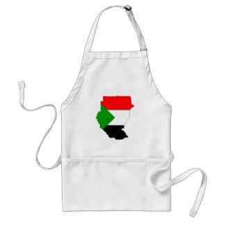 Mapa de la bandera de Sudán del mismo tamaño Delantales