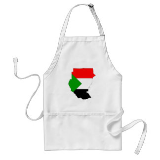 Mapa de la bandera de Sudán Delantal