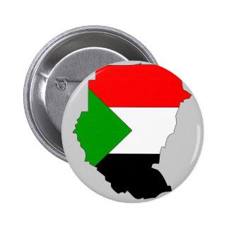 Mapa de la bandera de Sudán Pin
