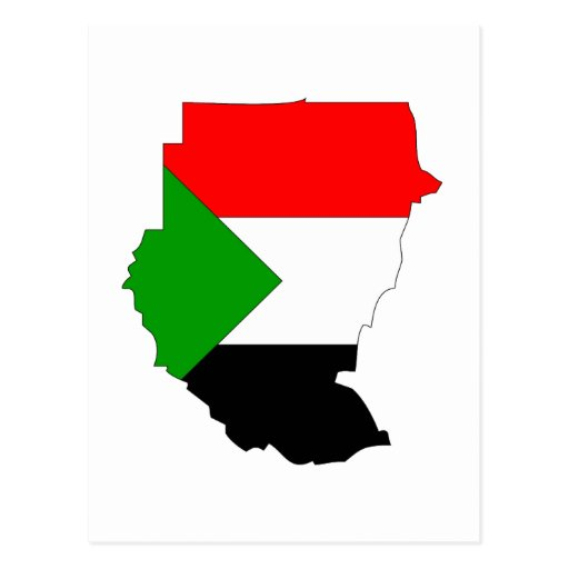 Mapa de la bandera de Sudán Postales