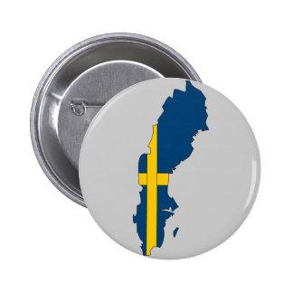 Mapa de la bandera de Suecia Pins