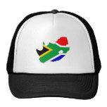 Mapa de la bandera de Suráfrica del mismo tamaño Gorras De Camionero