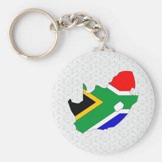 Mapa de la bandera de Suráfrica del mismo tamaño Llavero Redondo Tipo Pin