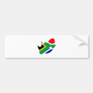 Mapa de la bandera de Suráfrica del mismo tamaño Pegatina Para Auto