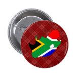 Mapa de la bandera de Suráfrica del mismo tamaño Pins