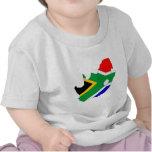 Mapa de la bandera de Suráfrica del mismo tamaño Camiseta