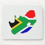 Mapa de la bandera de Suráfrica del mismo tamaño Alfombrillas De Ratón
