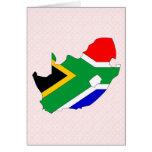 Mapa de la bandera de Suráfrica del mismo tamaño Tarjeton