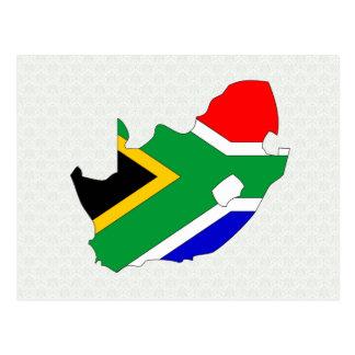 Mapa de la bandera de Suráfrica del mismo tamaño Tarjetas Postales
