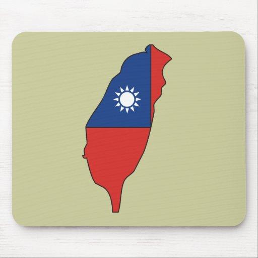 Mapa de la bandera de Taiwán Alfombrilla De Ratones