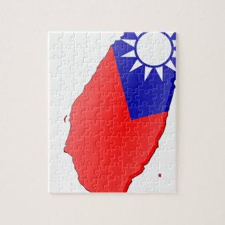 Mapa de la bandera de Taiwán Puzzle