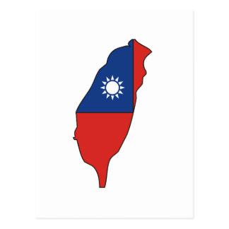 Mapa de la bandera de Taiwán Postal