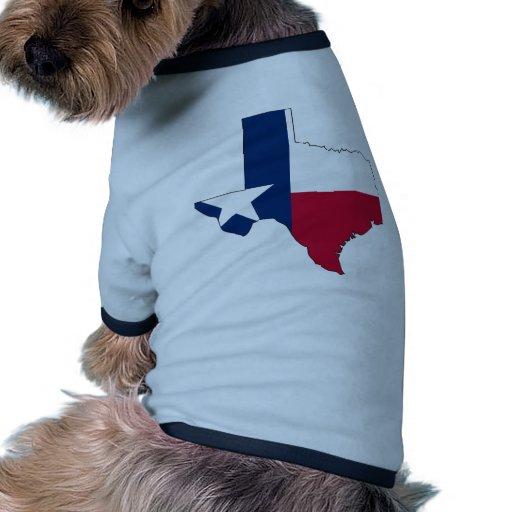 Mapa de la bandera de Tejas Camiseta De Perro