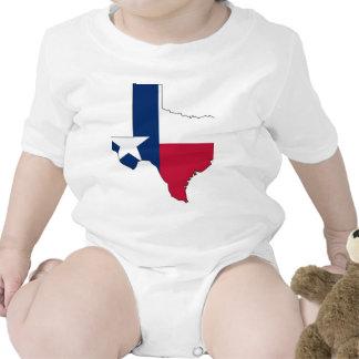 Mapa de la bandera de Tejas Trajes De Bebé