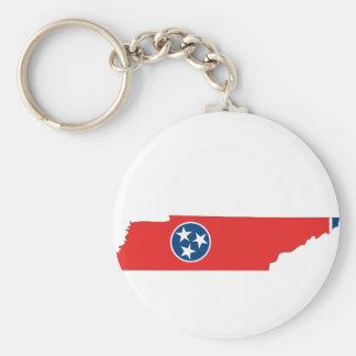 Mapa de la bandera de Tennessee Llavero Personalizado
