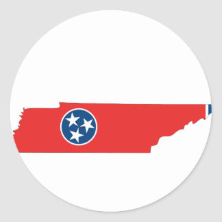 Mapa de la bandera de Tennessee Pegatina Redonda