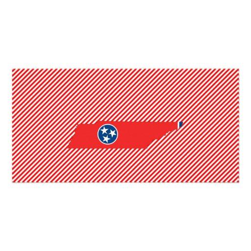 Mapa de la bandera de Tennessee Tarjeta Personal